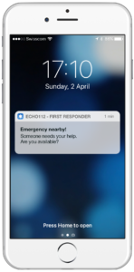 Emergency First Responder app screenshot press image