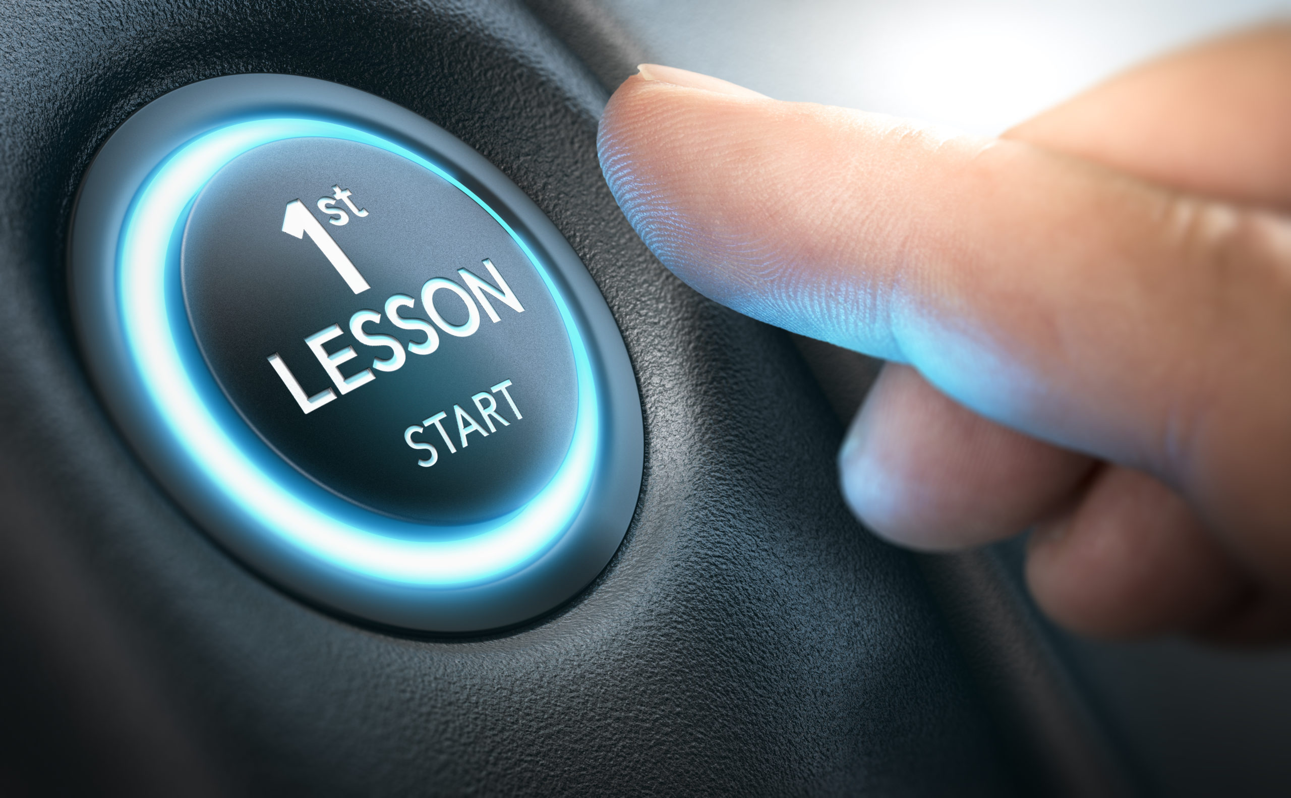 First Lesson button for driving licence